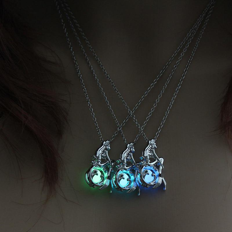 Blue Rainbow Blown Glass Heart Pendant Necklace Ladies Gift Crystal Ladies Gift
