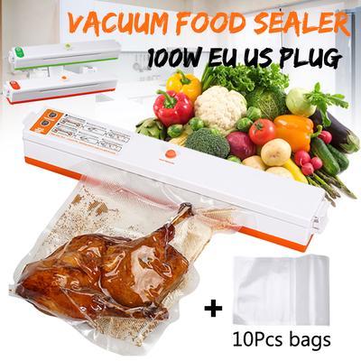 100W 110V 13Pcs Household Food Vacuum Sealer Packaging Machine Film Sealer Vacuum Packer Bags Automatically Sealed