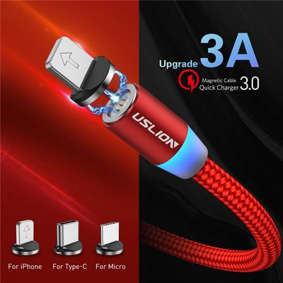 1M 3A Magnetic Cable Fast Magnetic Charging Cable Micro Usb