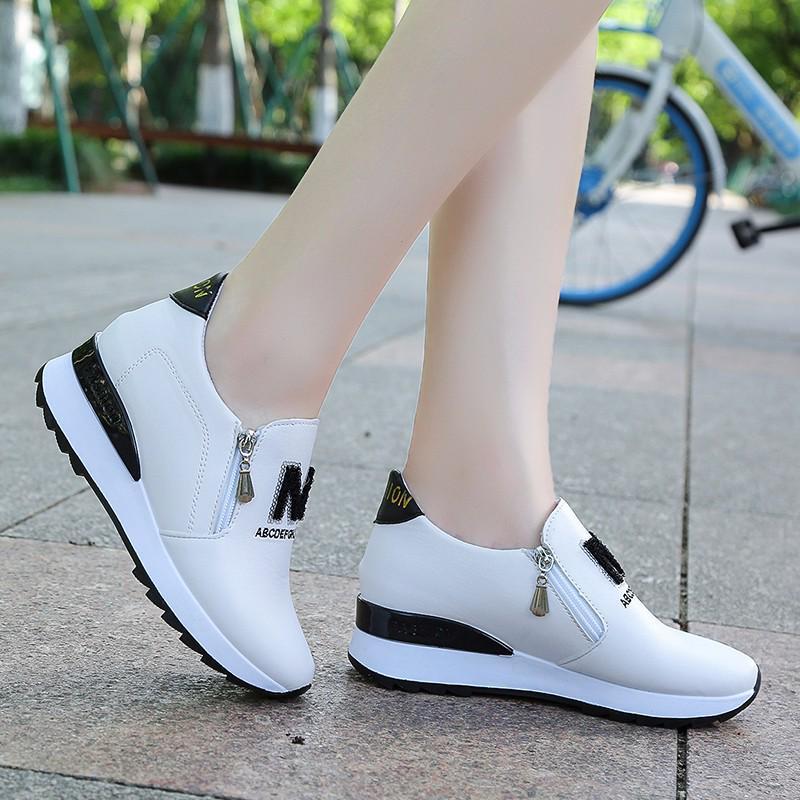 Платформа женщин Циппер Искусственная сшивание цвет кроссовки – купить по низким ценам в интернет-магазине Joom