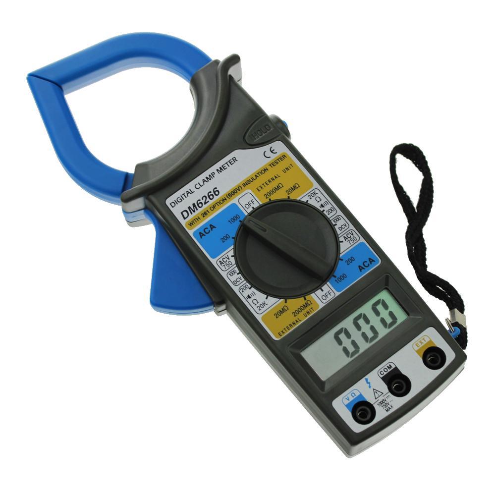DM6266 LCD Digital Clamp Meter AC DC Current Voltage Resistance Tester  Blue-buy at a low prices on Joom e-commerce platform