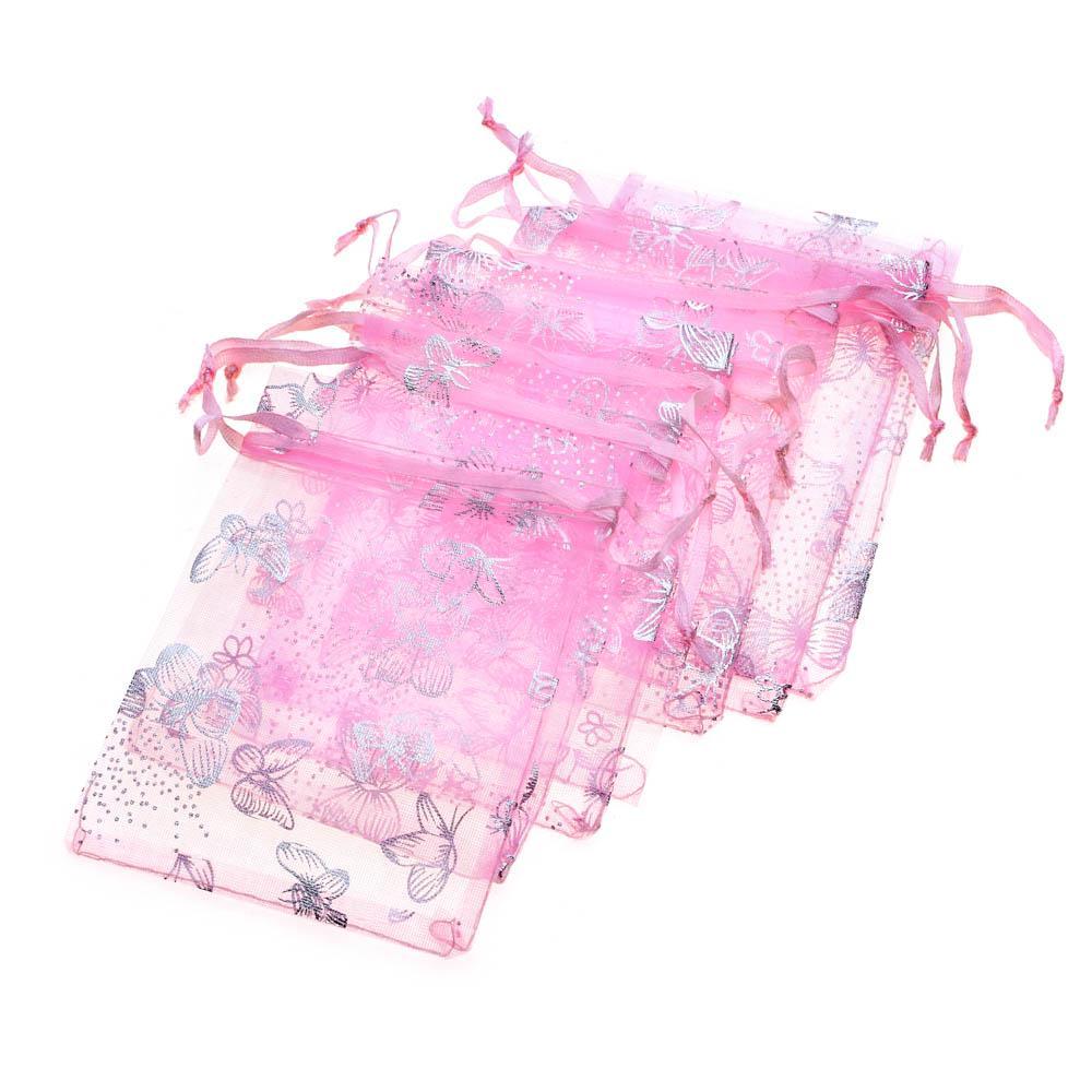 50шт бабочка подарок органза сумки свадьбу пользу конфеты Чехлы ювелирных изделий Чехлы фото
