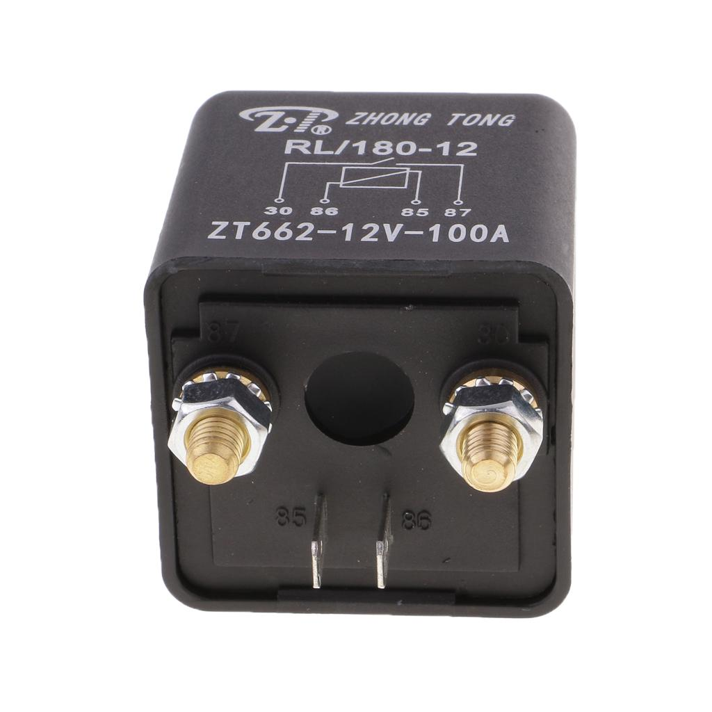 2pcs 100A 24V Car Truck On Off Changeover Switch 4 Terminal Relay Automotive
