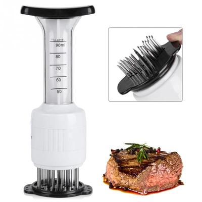 1Pc Meat Tenderizer Needle Beef Sauce Injector Marinade Home Kitchen Tool BS