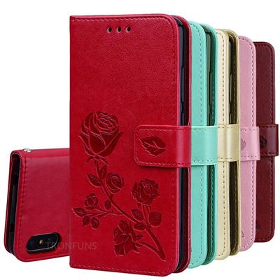 Leather Flip Case For Samsung Galaxy iPhone Huawei Honor Xiaomi Redmi Magnetic Wallet Cover