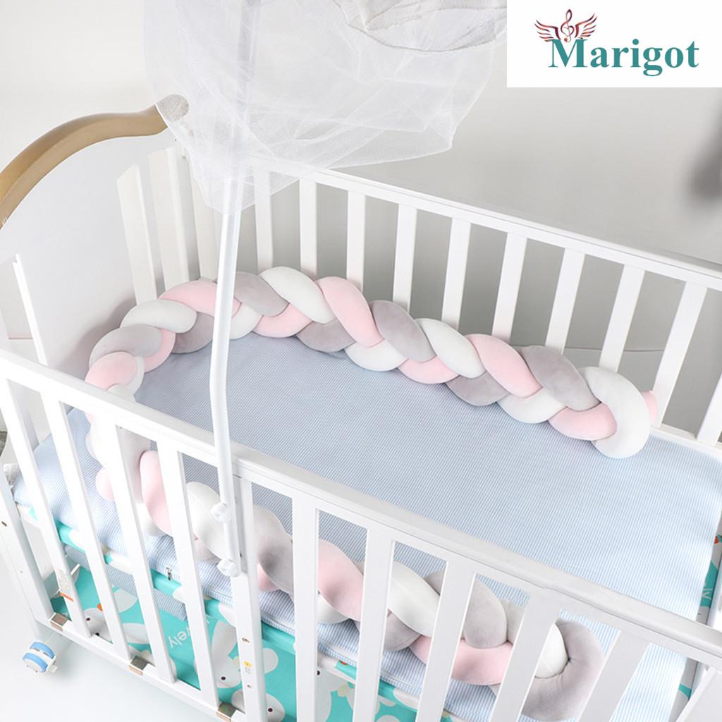 T-REASURE Baby Crib Bumper,Knotted Braided Handmade Soft Knot Cradle Decor Bedding Safety Fence Cushion Knot for Toddler//Newborn