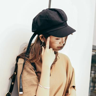 for winter 56-58cm Color : Light gray, Size : M Lovely Literary octagonal hat ladies autumn and winter bow rope pumpkin hat corduroy painter hat beret Color : Light gray , Size : M 56-58cm