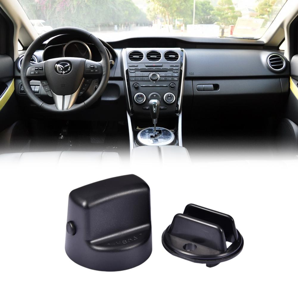 Ignition Key Knob Push Turn Switch Key Ignition Knob Set Replacement part# D461-66-141A-02 D6Y1-76-142 Fit for Mazda Speed 6 CX9 CX7