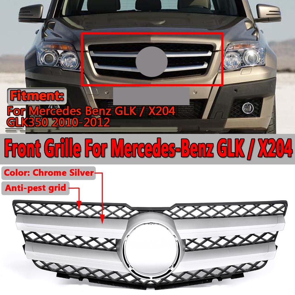 2pcs Silver ABS Dashboard Panel Air Vent Outlet Cover Trim For Benz GLK X204 ML