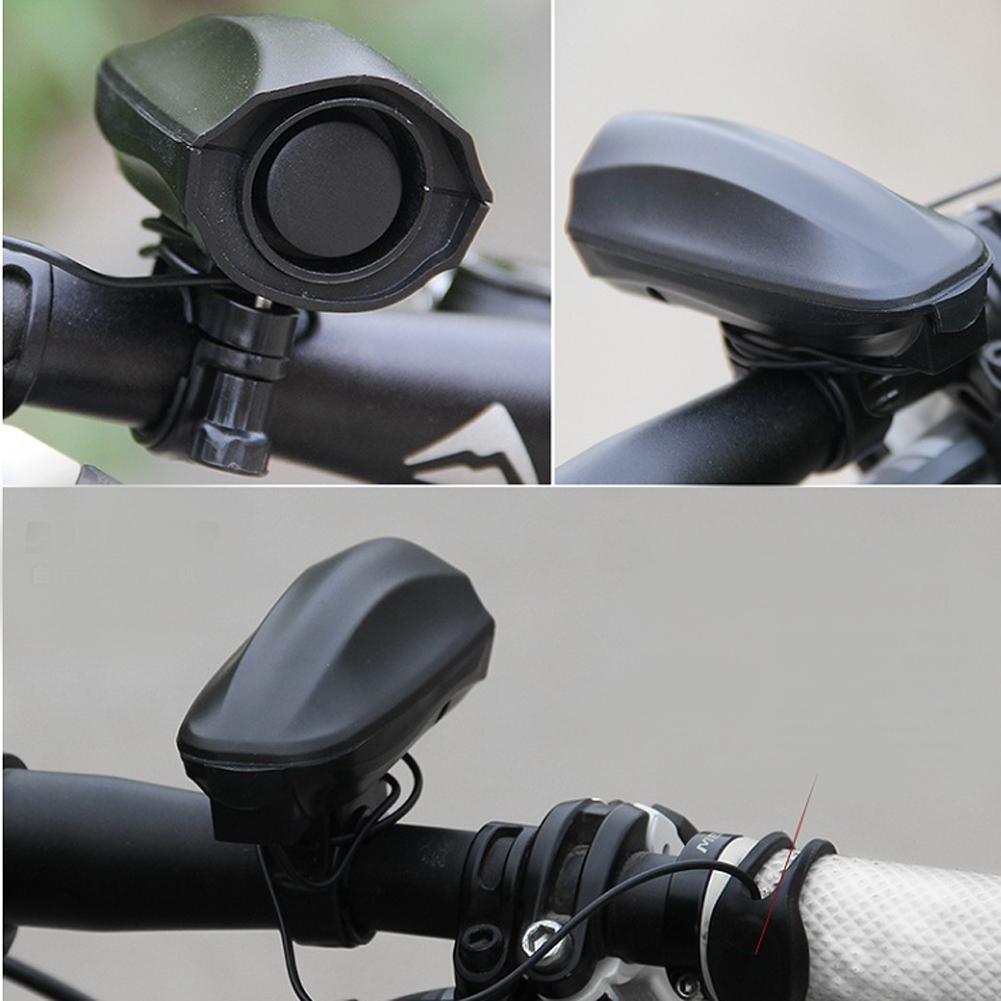 High Decibel Loud Bike Bell Cycling Black Safety Riding Alarm Siren Horn