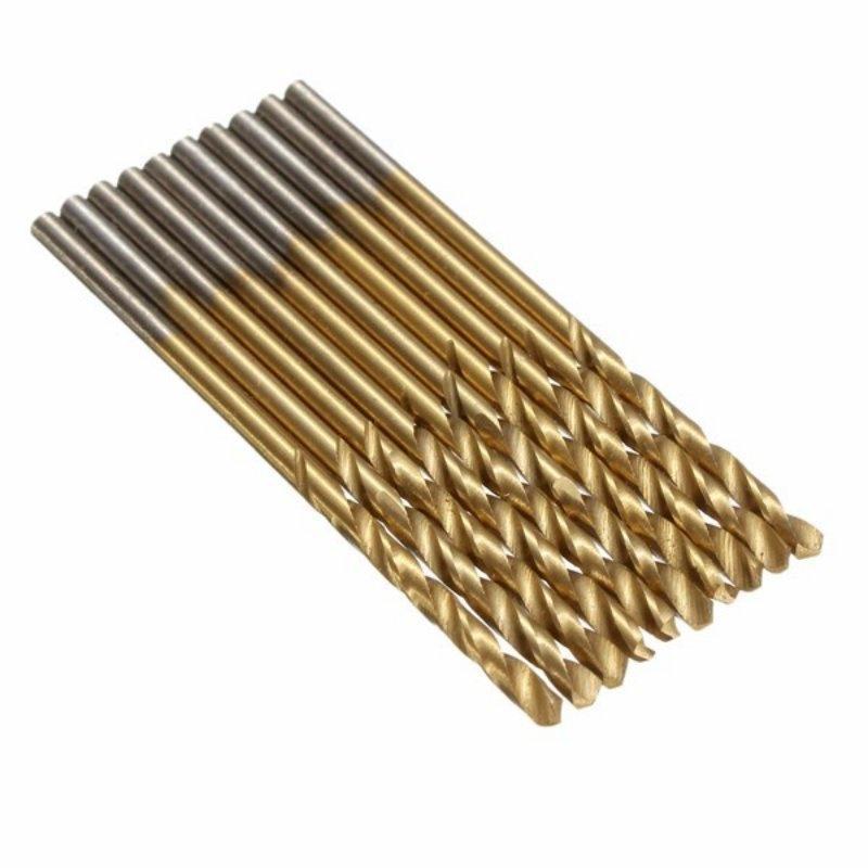 HSS Shank Drill Bit Set 100pcs HSS Micro Drill Bit Set 1//1.5//2//2.5//3mm Titanium Metal Twist High Speed Steel Drill Bits Tools Titanium Coated for Wood Plastic and Aluminum Copper Steel