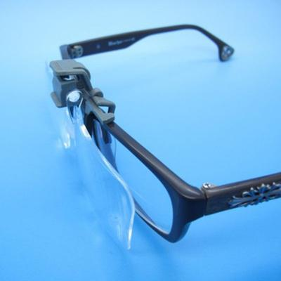 Glasses Magnifier Folding Clip On Loupe Eyeglass Lens Clear Lens 2X Magnifying Glasses