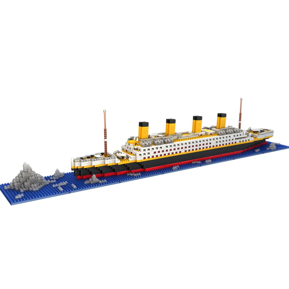 Titanic Building Blocks Ship Model Set The Kit For Kids Adult Large Toy 3D