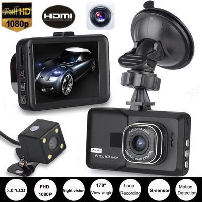 3.0inch Full HD 1080P DVR Dash Cam Camera Driving Recorder Dash Cam Camera Video Recorder G-Sensor Car Driving Recorder