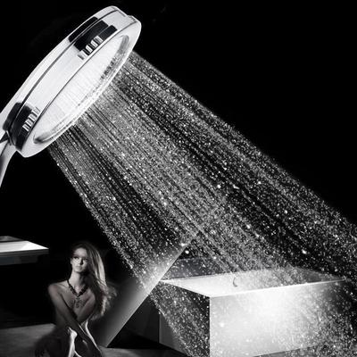 High Pressure Shower Head Powerfull Boosting Sprayer Bathroom Water Saving