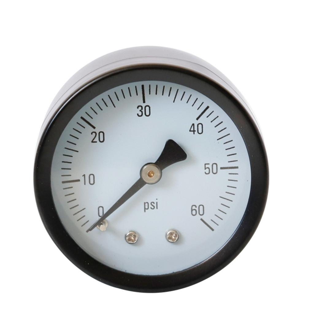 Bassa pressione calibro per OLIO COMBUSTIBILE ARIA O ACQUA 40 mm 0//15 PSI BAR 1//8 BSPT inferiore
