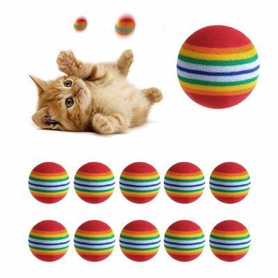 be9c6e927 Animal de estimação, cão, gato brinquedo bolas coloridas vibrantes grande  presente a brincar ao