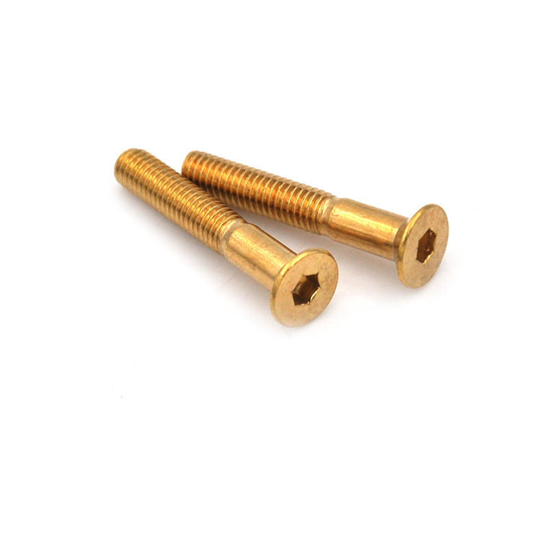 Golden 8 Pieces Skateboard 25mm Truck Bolts Screws with Nuts Set Hardware