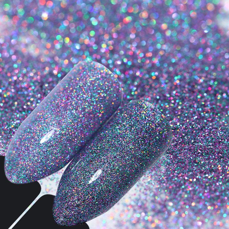 BORN PRETTY Лазерный порошок ногтей Искусство Блеск