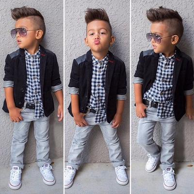 e0d3fd84c83c Spring Autumn Style Clothes Baby Clothing Sets Boy Cotton 3pcs(coat+ ...