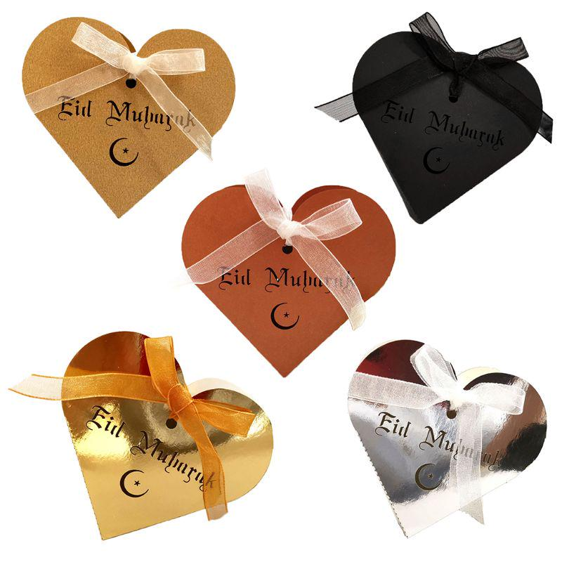 25pcs Laser Cut Hollow Love Heart Chocolate Candy Box With Ribbon Happy Eid Mubarak Ramadan Buy From 9 On Joom E Commerce Platform