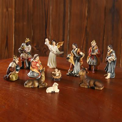 11pcs Catholic Jesus Resin Ornament Set Nativity Scene Ornament Resin Christmas