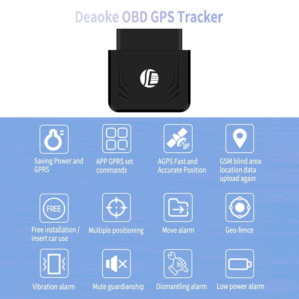 TK306 OBD GPS Tracker Car Truck GSM Vehicle Tracking Device OBD2 16Pin Locator