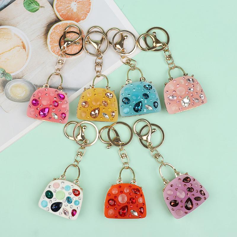 A Beautiful Diamante Purple Hedgehog Keyring  Rhinestones Charm Pendant Purse Bag Key Ring Chain Keychain Gifts