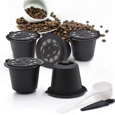 5 X Refillable/Reusable Coffee Filter Capsule Pod Spoon For Nespresso Machine