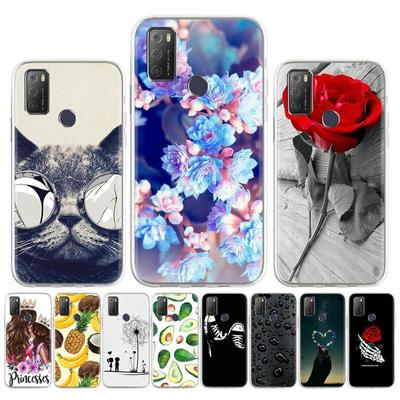 Soft Silicone Case for Alcatel 1S 2021 Case for Alcatel 3L 2021 Cover Painted Flower Animal Cute Pet Patterned Phone Bumper