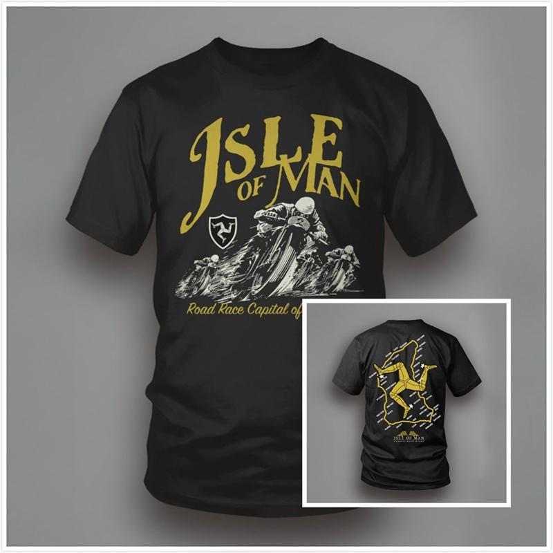 Isle of Man Classic TT Vintage Road Racing Motorcycle T Shirt