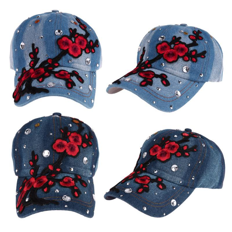 Las mujeres de moda ajustable flor Strass bordado hip-hop tapa exterior Snapback  sombrero de béisbol - comprar a precios bajos en la tienda en línea Joom e9d4aa3c04b
