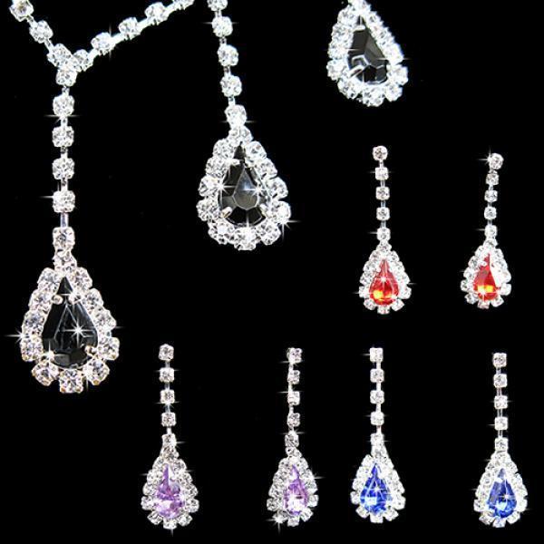 842a1e502187 Mujeres cristal Cubic Zirconia collar araña arracadas joyas de boda ...