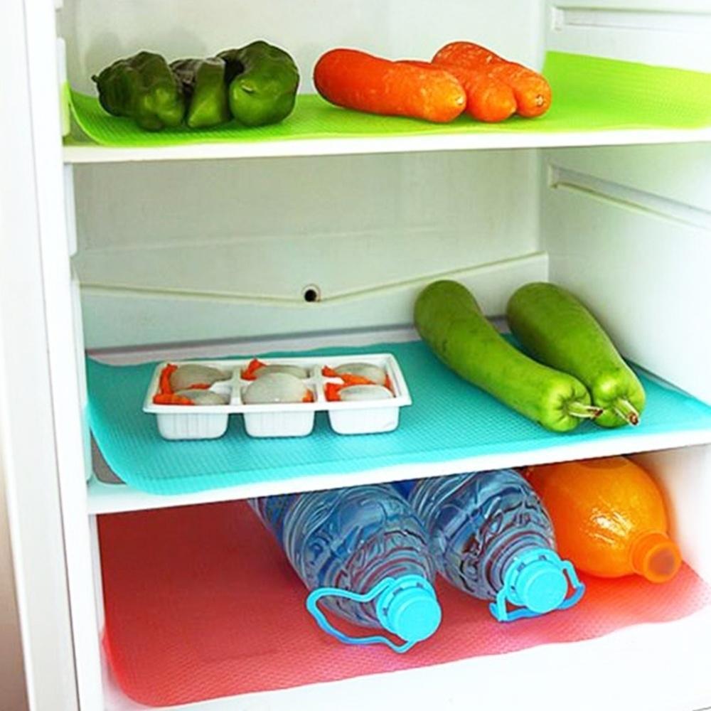 4pcs Slim Multifunktions-Kühlschrank-Matte Antifouling Antifrost Wasserdicht Pad