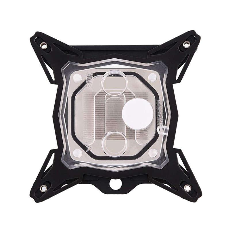 Computer Copper Board CPU Water Cooling Water Block for INTEL System Black