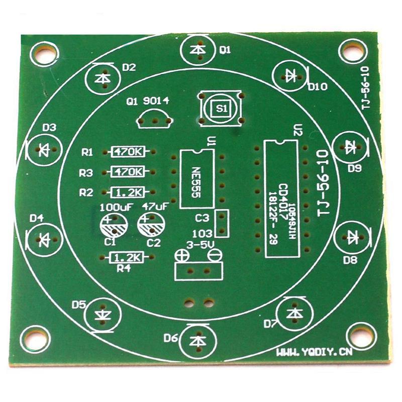 DIY Kits NE555 LED Electronic Lucky Wheel Analog Lottery Tumbler Suite 3V-5V