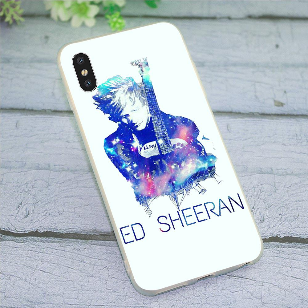 Ed Sheeran Phone Cover for iPhone X Case 6 6S XR Xs Max 8 Plus 7 5S 5 SE