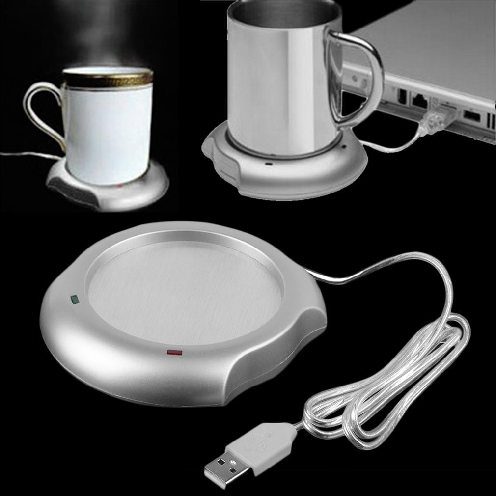 USB Silicone Heating Coaster Heat Warmer Electric Insulation Mug Cup Heater Mat