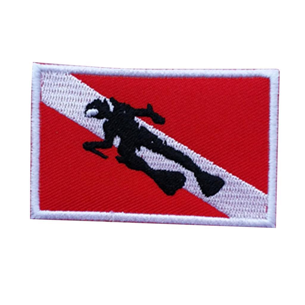 Patch flag backpack back vest bag scuba diving diver dive embroidered iron on