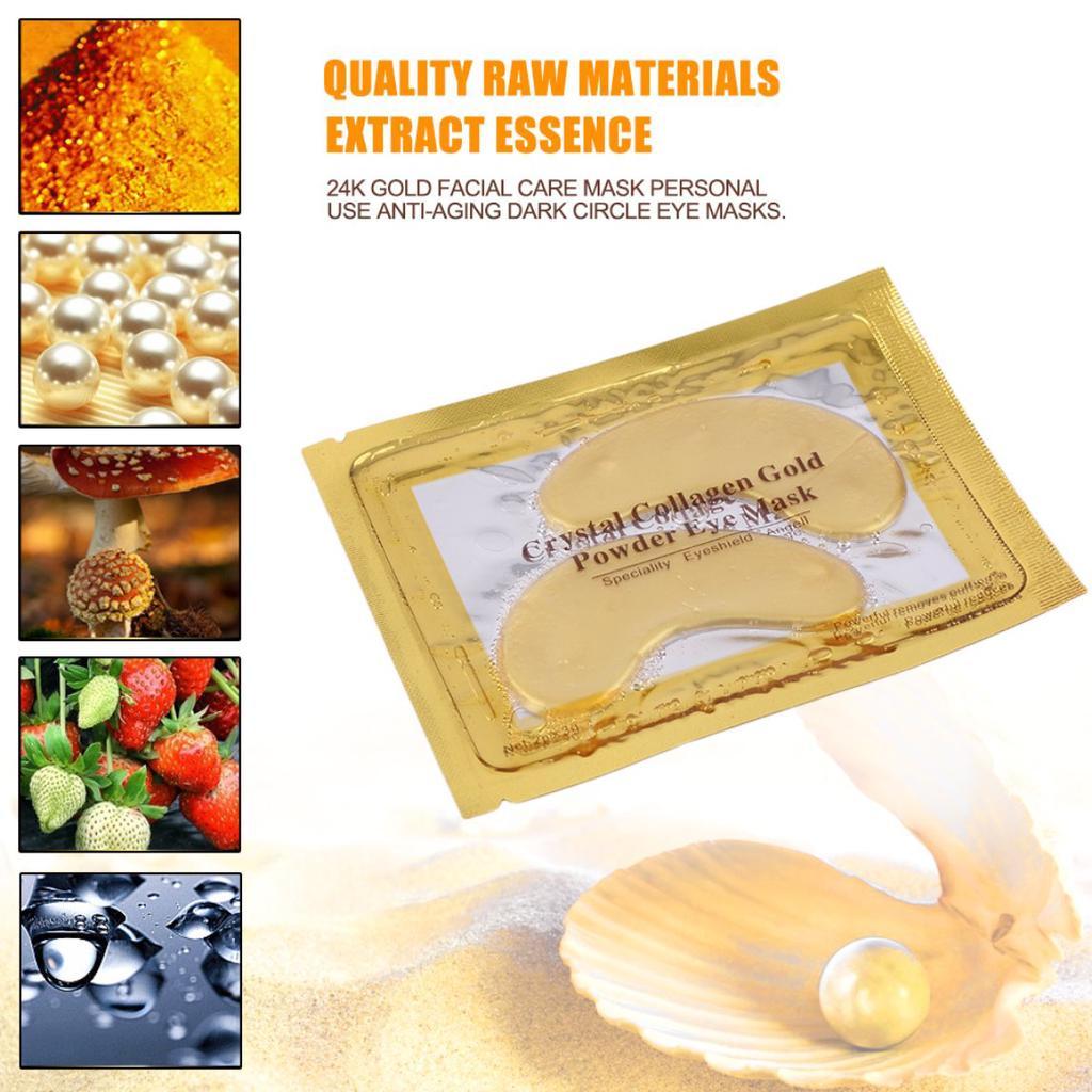 24k Gold Facial Care Mask Personal Use Anti Aging Dark Circle Eye Powder Aye 1 Of 9