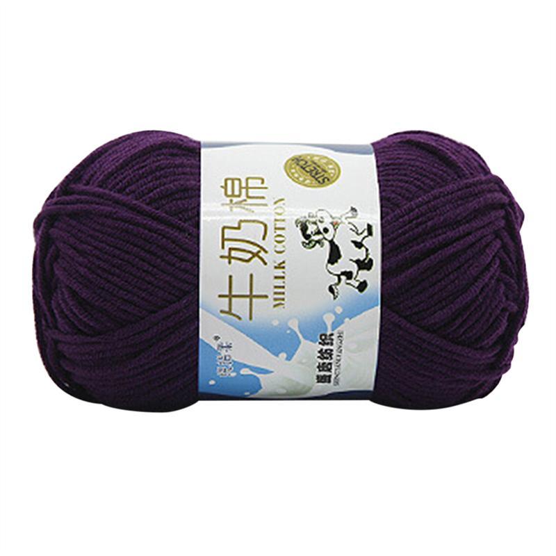 50g leche algodón grueso H-tejido Crochet tejer lana de suéteres ...