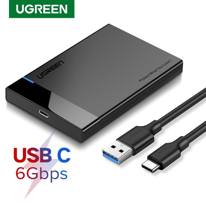 Ugreen SATA III a USB 3.0 Adapter 2.5//3.5 HDD DISCO RIGIDO SSD Cavo Esterno DIS