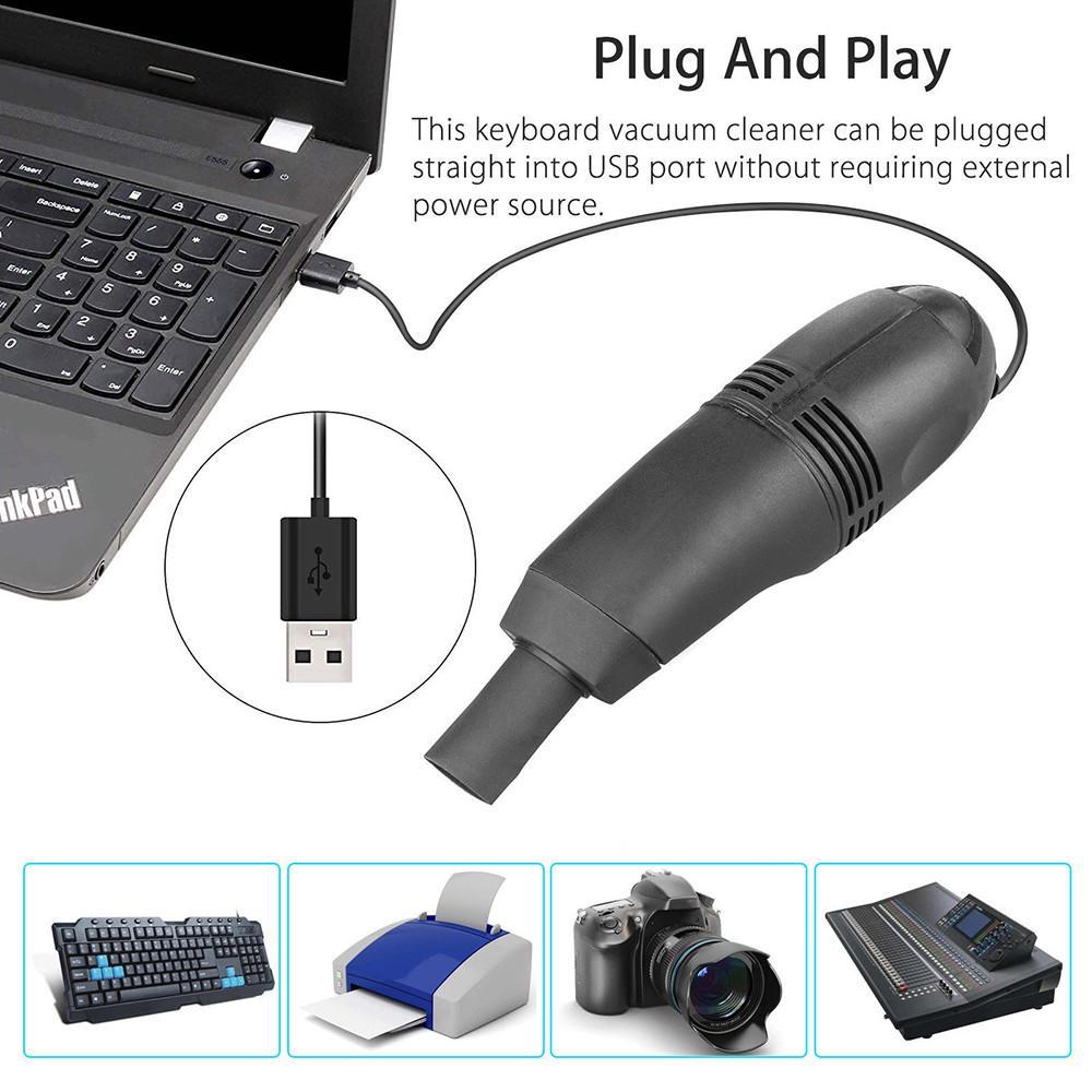 Mini USB Vacuum Keyboard Cleaner Dust Cleaning Kit Laptop Desktop PC Computer