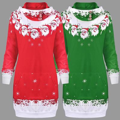 New Fashion Ladies Long Sleeved Sweater Plus Velvet Thickening Christmas Pattern Santa Claus Buy At A Low Prices On Joom E Commerce Platform