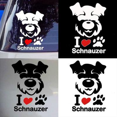 Love Schnauzer Head Dog Vinyl Decal Sticker Car Truck Window