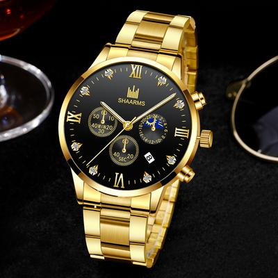 Classic Men's Luxury Watch Fashion Stainless Steel Quartz Watch
