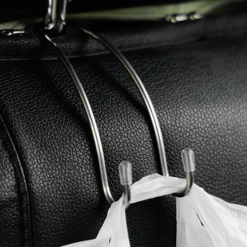 4PCS Car Hook Seat Hanger,2PCS//4PCS Stainless Steel Safety Holder Back Seat Hook,Portable Metal Headrest Hook for Car