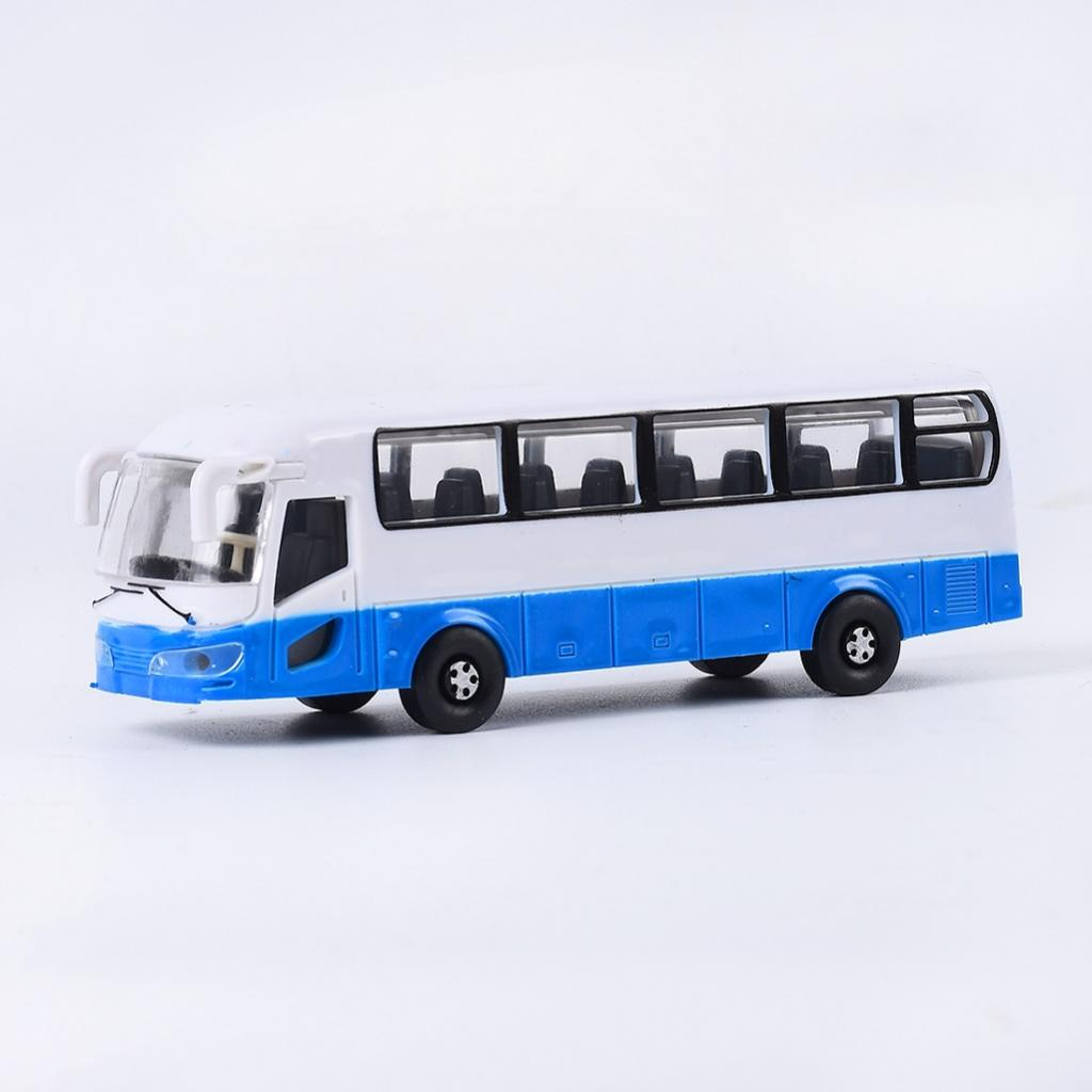 4 lot 1:100 HO Gauge Plastic Bus Model Street Parking Buildings Accessory