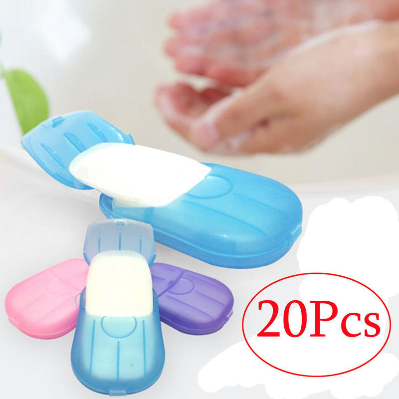 Stars Shape Convenient Washing Cleaning Hand Paper Soap Anti-bacterial Portable Soap For Travel Camping Hiking Beauty & Health