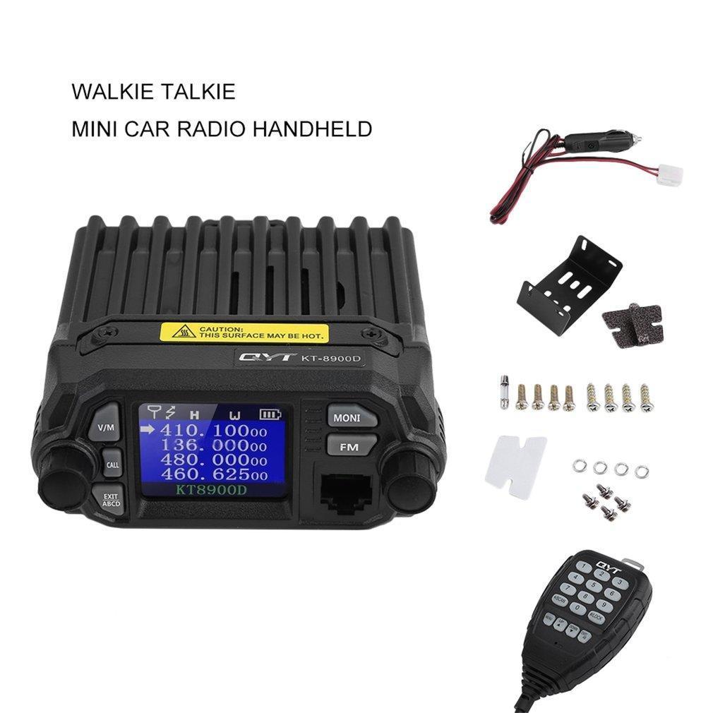 QYT KT-8900D Dual Band Quad Standby 5Tone 25W VHF UHF Car//Truck Ham Mobile Radio